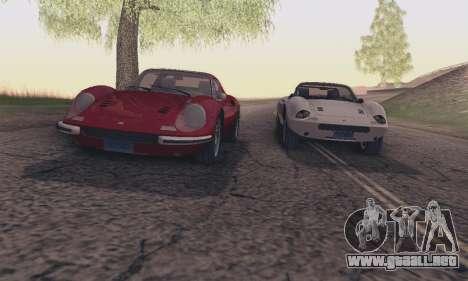 Ferrari Dino 246 GTS Coupe para vista inferior GTA San Andreas