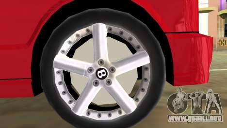 Bentley Arnage T 2005 para GTA Vice City vista lateral izquierdo