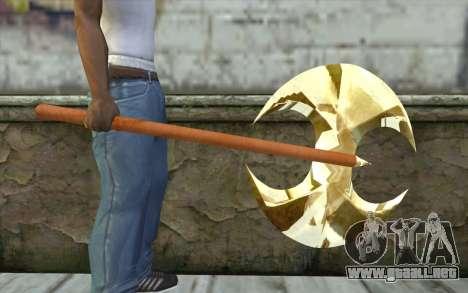 Hacha de oro para GTA San Andreas tercera pantalla