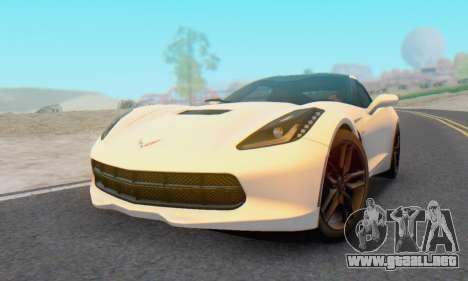 Chevrolet Corvette Stingray C7 2014 para la visión correcta GTA San Andreas