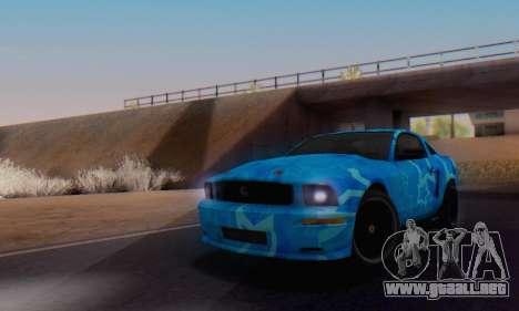 Ford Mustang Shelby Blue Star Terlingua para la visión correcta GTA San Andreas