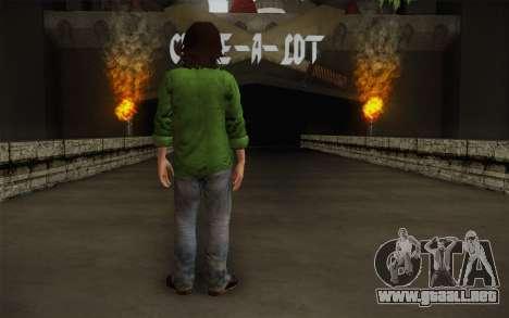 Sam Winchester из Sobrenatural para GTA San Andreas segunda pantalla