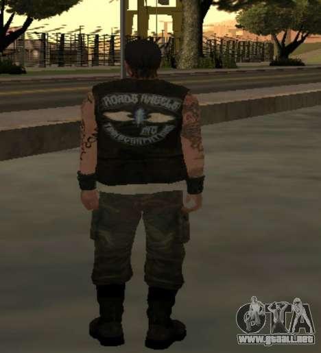 Motero desde el club de las Carreteras de los Án para GTA San Andreas tercera pantalla
