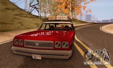 Dundreary Regina V1.0 para GTA San Andreas vista posterior izquierda