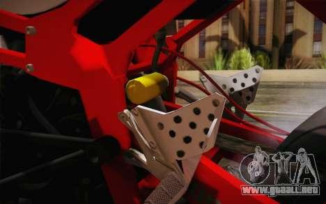 Kawasaki Zx6r Ninja para visión interna GTA San Andreas