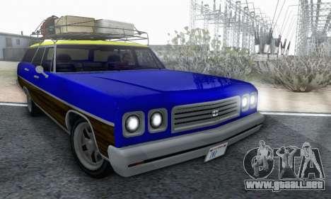 Dundreary Regina V1.0 para la vista superior GTA San Andreas