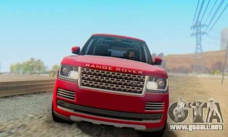 Range Rover Vogue 2014 V1.0 Interior Nero para GTA San Andreas left