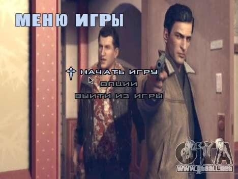La pantalla de arranque de Mafia II para GTA San Andreas sexta pantalla