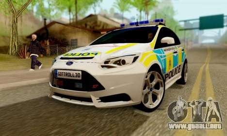 Ford Focus ST 2013 British Hampshire Police para GTA San Andreas