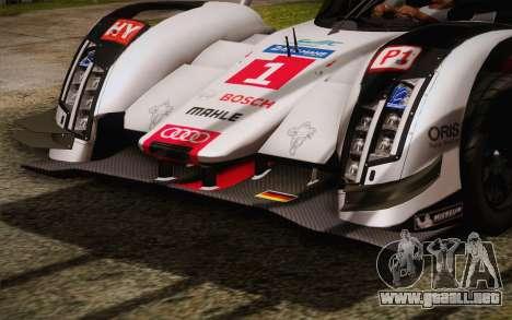 Audi R18 E-tron Quattro 2014 para visión interna GTA San Andreas