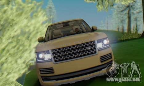 Range Rover Vogue 2014 V1.0 SA Plate para la visión correcta GTA San Andreas