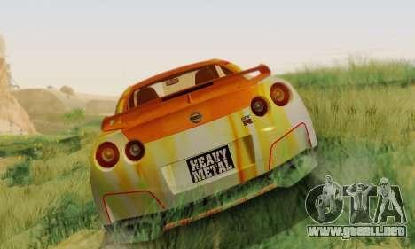 Nissan GTR Heavy Fire para GTA San Andreas left