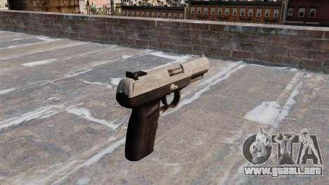 Pistola FN Five seveN Camo ACU para GTA 4 segundos de pantalla
