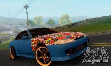 Nissan Silvia S15 Metal Style para GTA San Andreas vista hacia atrás
