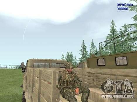 El combatiente del ejército ruso para GTA San Andreas sexta pantalla