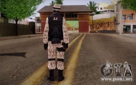 SWAT Snow Camo para GTA San Andreas segunda pantalla