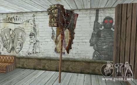 El hacha del verdugo (Resident Evil 5) para GTA San Andreas segunda pantalla
