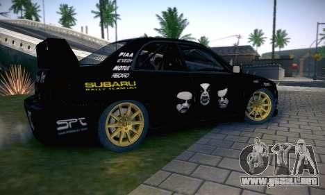 Subaru Impreza WRC STI Black Metal Rally para el motor de GTA San Andreas