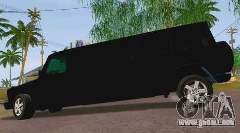 Mercedes-Benz G500 Limousine para GTA San Andreas left