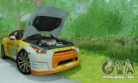 Nissan GTR Heavy Fire para la visión correcta GTA San Andreas