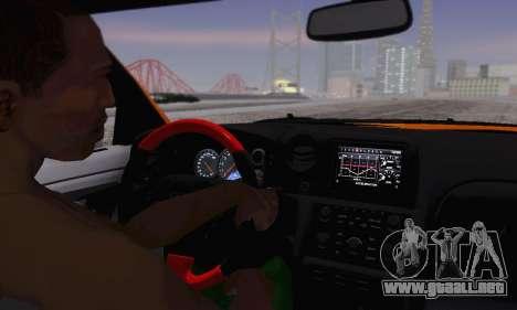 Nissan GTR Heavy Fire para vista lateral GTA San Andreas