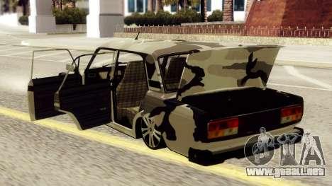 VAZ 2107 en camuflaje para la visión correcta GTA San Andreas