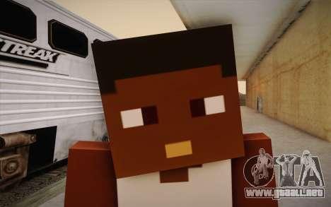 Cj Minecraft para GTA San Andreas tercera pantalla