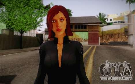 Scarlet Johansson из Vengadores para GTA San Andreas tercera pantalla
