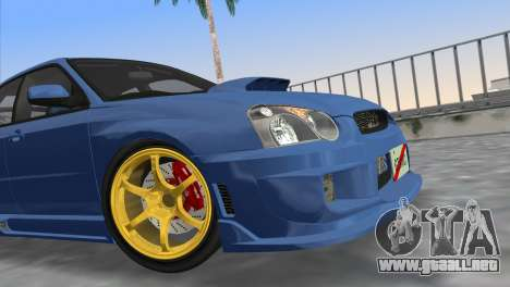 Subaru Impreza WRX STI 2005 para GTA Vice City visión correcta