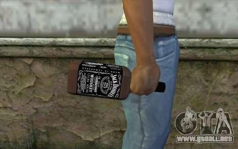 Jack Daniels Whiskey para GTA San Andreas tercera pantalla