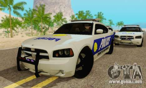 Pursuit Edition Police Dodge Charger SRT8 para visión interna GTA San Andreas