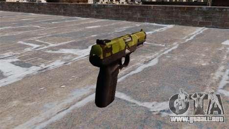 Pistola FN Five seveN Woodland para GTA 4 segundos de pantalla