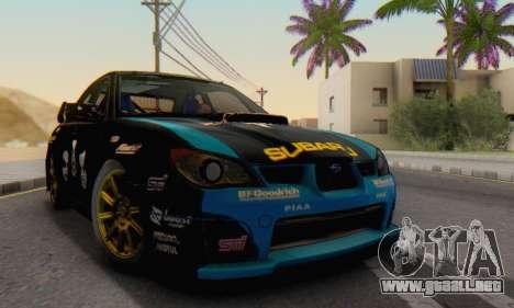Subaru Impreza WRC STI Black Metal Rally para la visión correcta GTA San Andreas