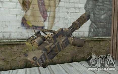 Minigun con una tienda para GTA San Andreas segunda pantalla