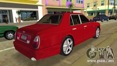 Bentley Arnage T 2005 para GTA Vice City left
