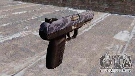 Pistola FN Five-seveN Blue Camo para GTA 4 segundos de pantalla