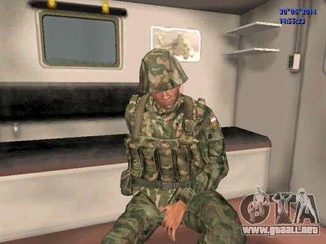 El combatiente del ejército ruso para GTA San Andreas sucesivamente de pantalla