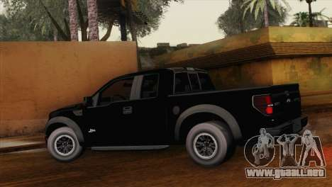 Ford F-150 SVT Raptor 2011 para GTA San Andreas left