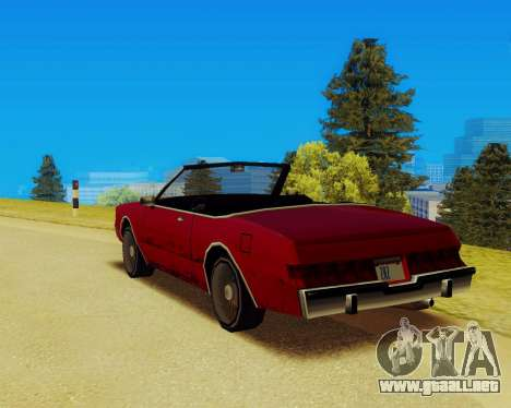 Majestuoso Convertible para GTA San Andreas left