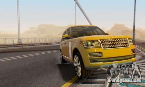 Range Rover Vogue 2014 V1.0 Interior Nero para la vista superior GTA San Andreas