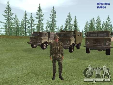 El combatiente del ejército ruso para GTA San Andreas segunda pantalla