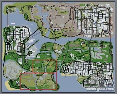 El denso bosque v2 para GTA San Andreas séptima pantalla