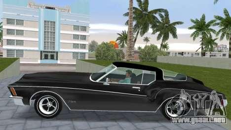 Buick Riviera 1972 Boattail para GTA Vice City vista lateral izquierdo