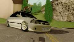 Honda Civic ek Coupe Hellaflush para GTA San Andreas