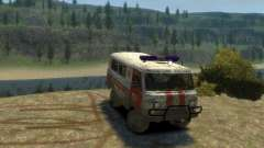 UAZ 39629 Ambulancia para GTA 4