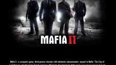 La pantalla de arranque de Mafia II
