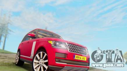Range Rover Vogue 2014 V1.0 UK Plate para GTA San Andreas