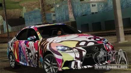 Lexus IS350 FSPORT Stikers Editions 2014 para GTA San Andreas