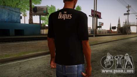 The Beatles Let It Be T-Shirt para GTA San Andreas segunda pantalla