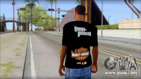 Harley Davidson Black T-Shirt para GTA San Andreas segunda pantalla